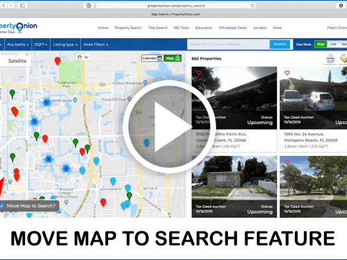 Video on how to move map to search for properties and live update results