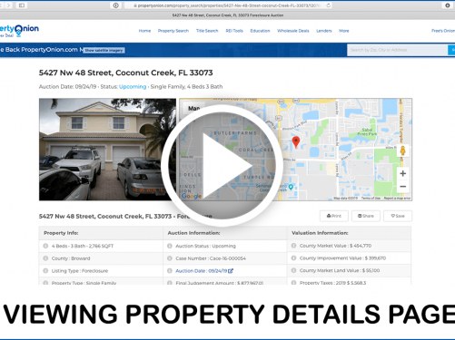 Understanding the property details page