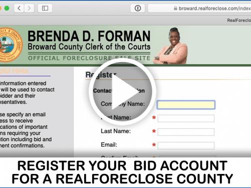 broward foreclosure auction video