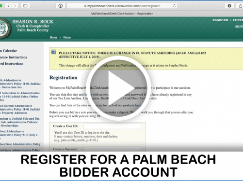 Palm Beach Foreclosure video guide