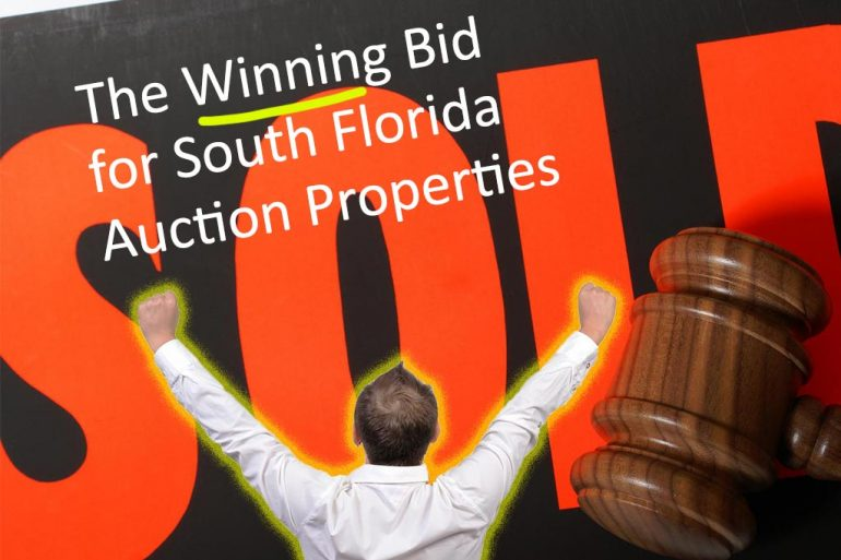 how to place the winning bid at the county foreclosure auction