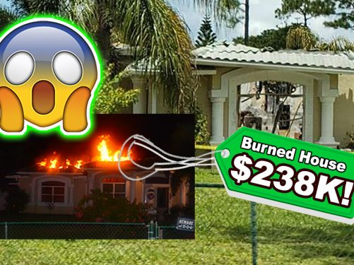 Investor buys burned down house