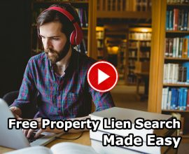 free property lien search