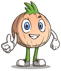 Rooty the propertyonion.com mascot