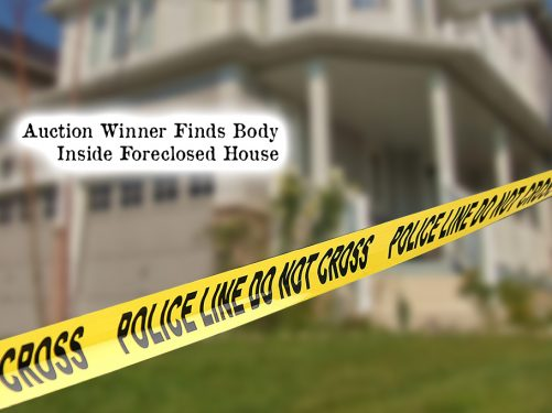 Auction winner finds corpse inside of foreclosed house