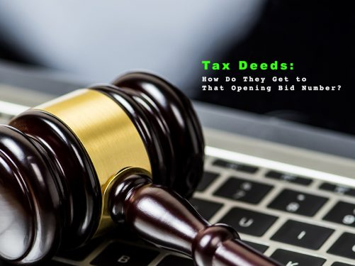 Tax Deeds Opening bid