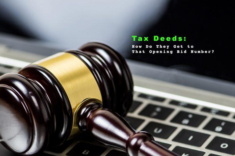 Tax Deeds Opening bid