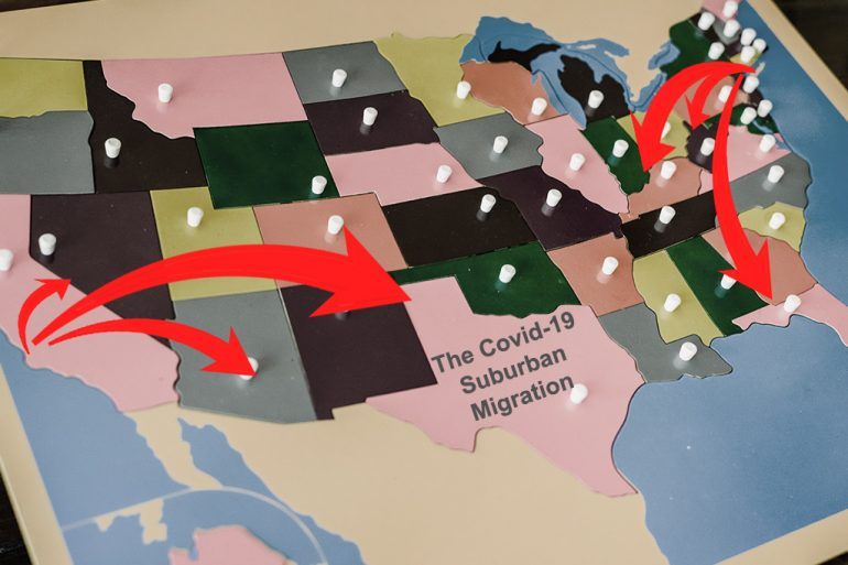 covid-19 suburban migration