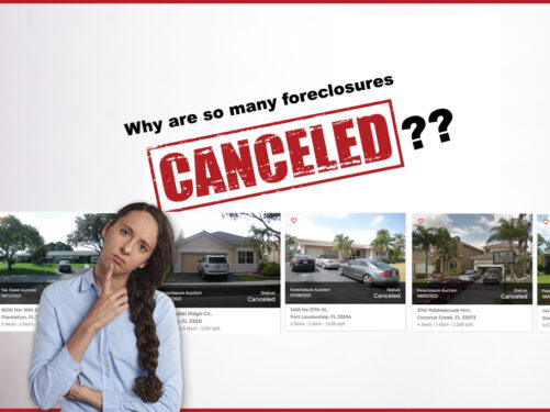 Why Are County Foreclosures Often Canceled?